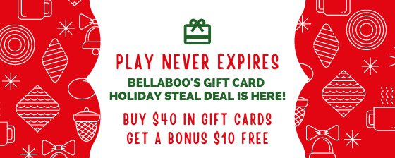 Play Never Expires. Buy $40 in gift cards, get $10 free.
