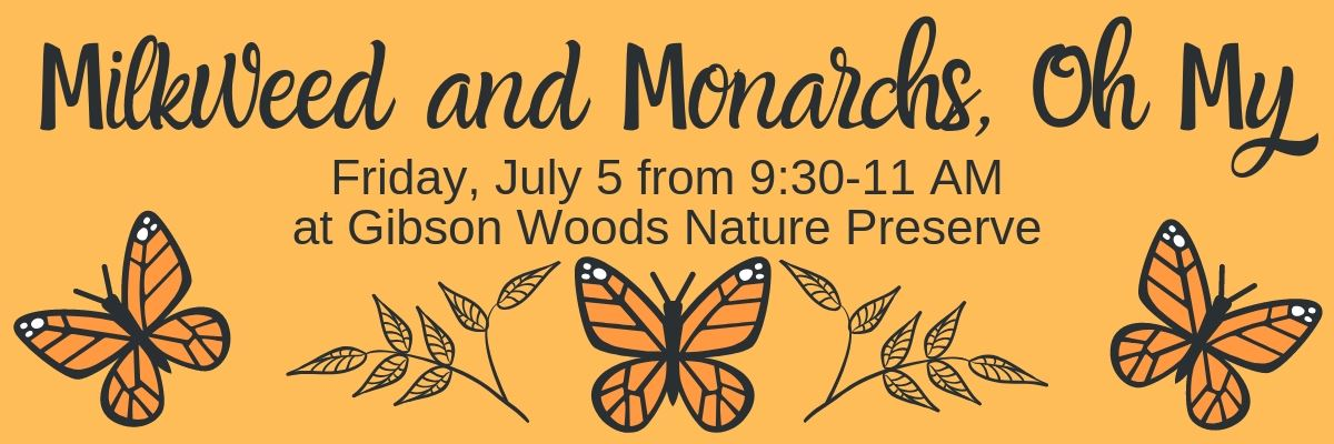 Milkweed and monarch oh my banner page