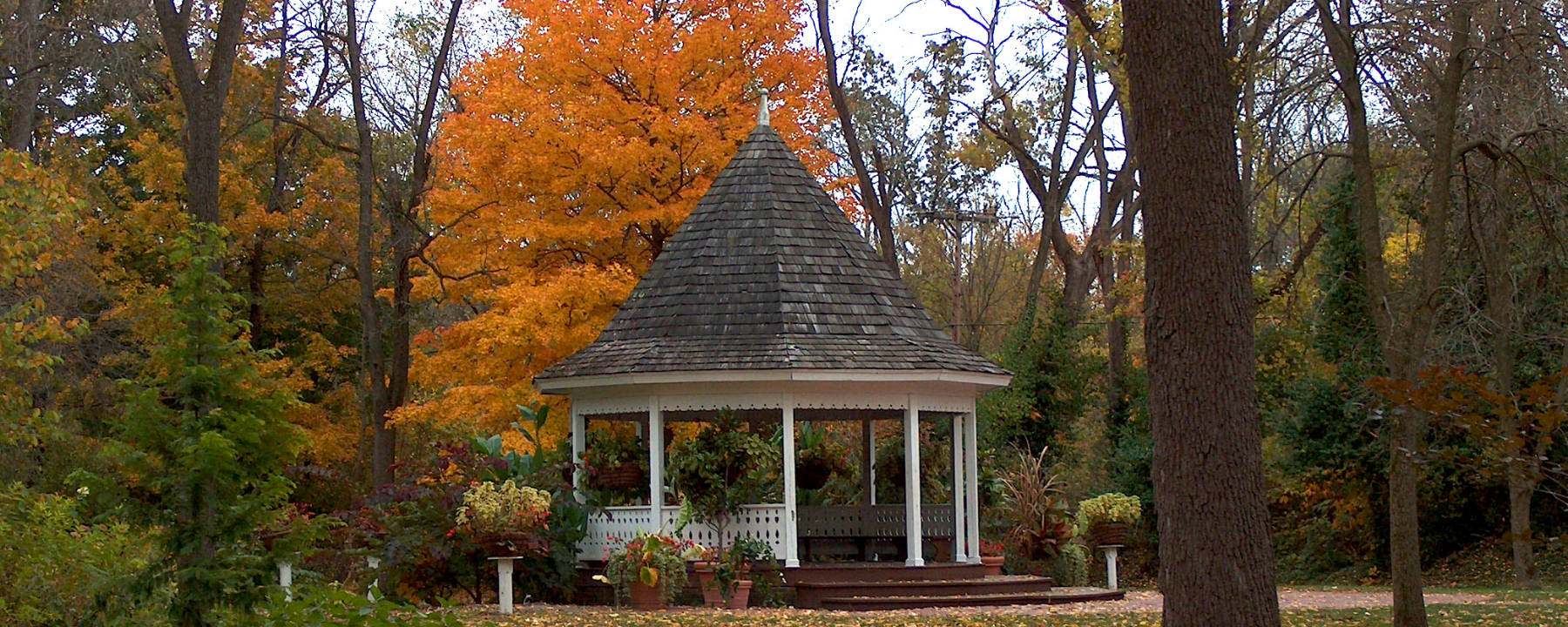 Deep River Gazebo in Fall