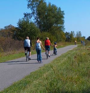 Bike Riders on the Trail