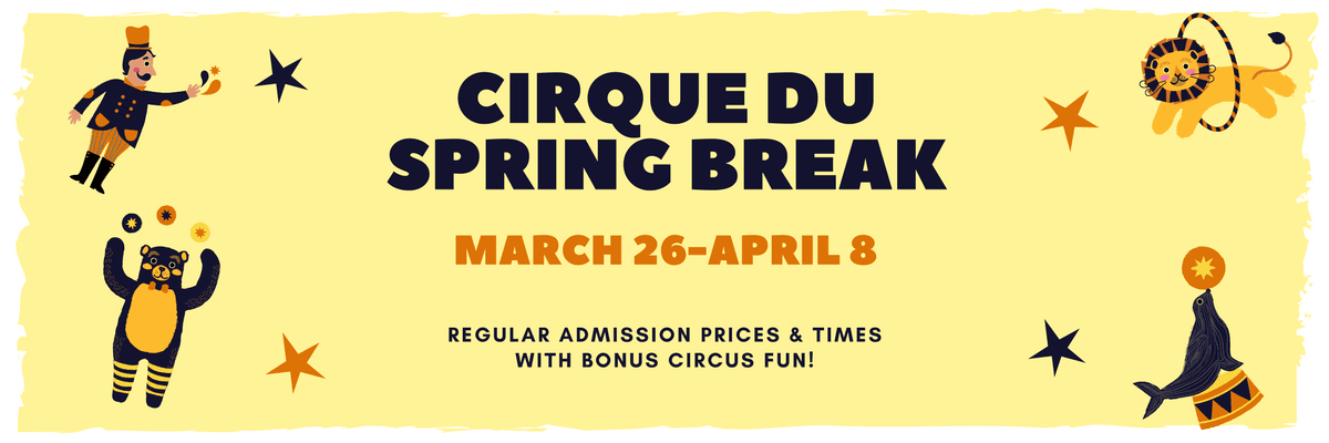 Cirque Du Spring Break March 26 through April 8