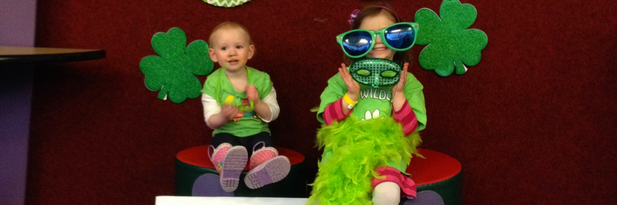 Children dressed up for St.Patricks Day