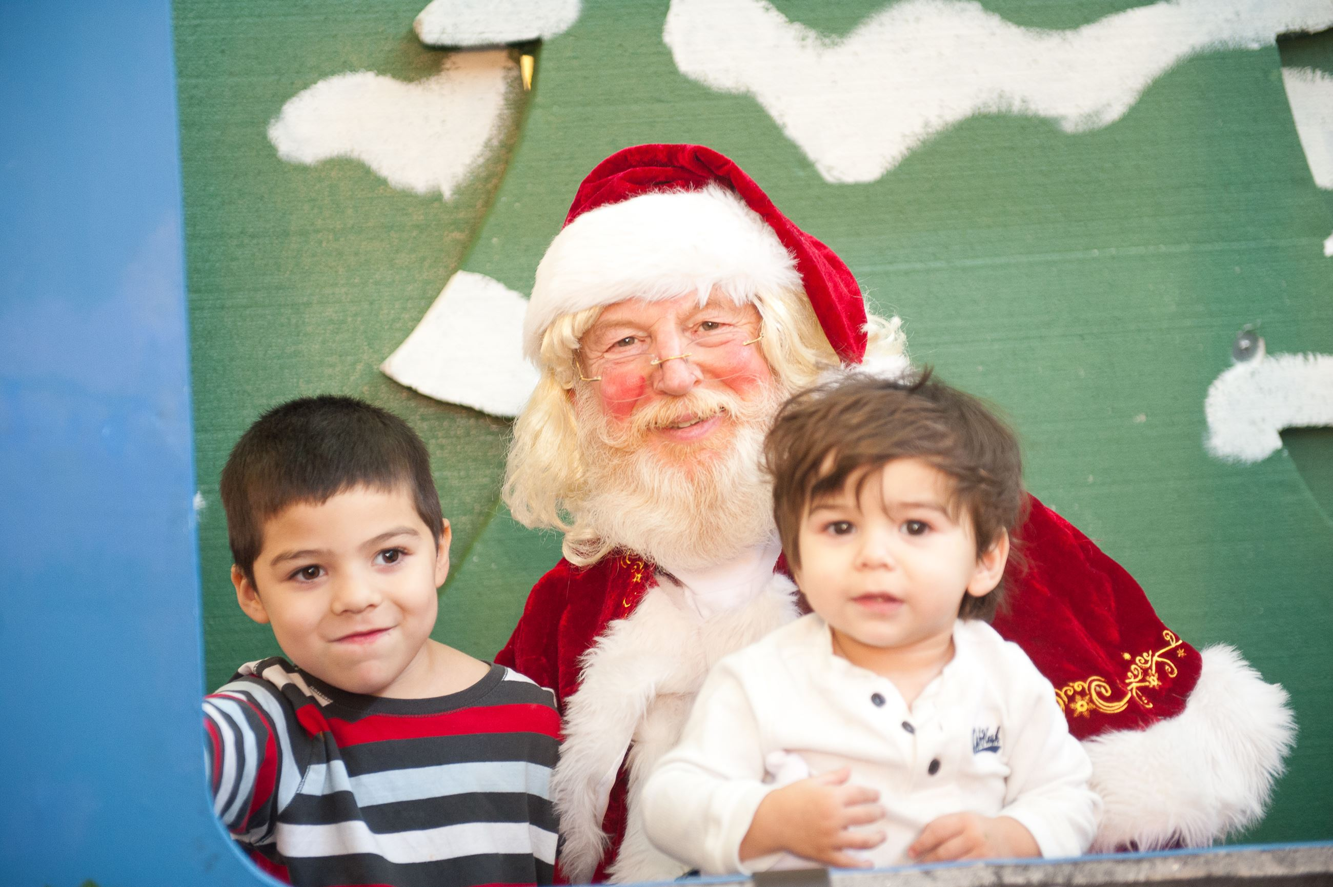 Two boys with santa